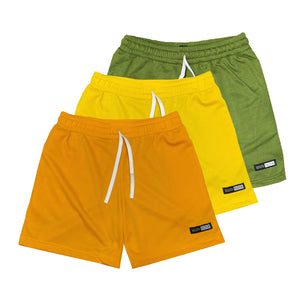 NOIX Ocre, Yellow, and Moose Green Walk Shorts BUNDLE