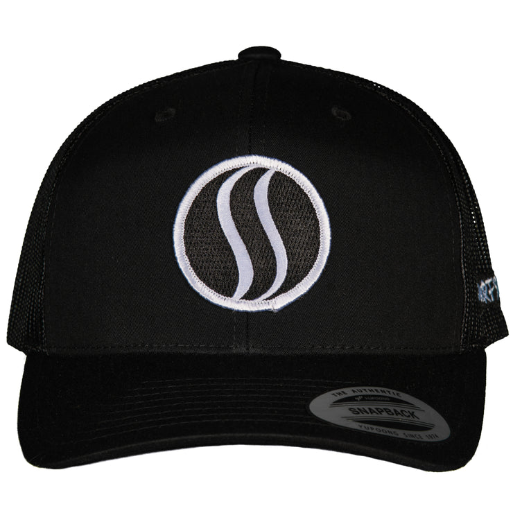 THE ORIGINAL-TRUCKER–BLACK-SIDE LOGO - PATCH