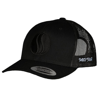 THE ORIGINAL TRUCKER – BLACK/BLACK-SIDE LOGO