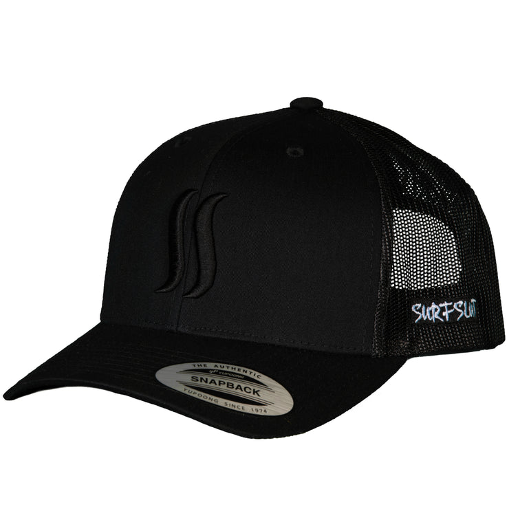 THE ORIGINAL SS - TRUCKER - BLACK ON BLACK, SIDE LOGO