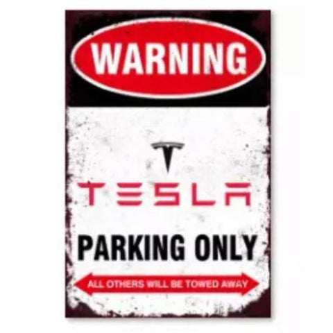 Image of Tesla Schild Parking Only
