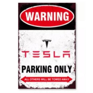 Tesla Schild Parking Only