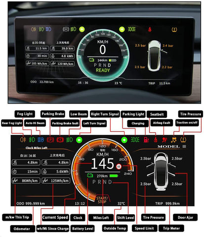 HD Instrumentendisplay für Tesla Model 3