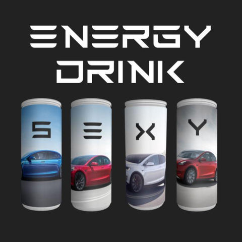 "Energy Drink ""S3XY"" set Tesla I e-car-shop.ch"