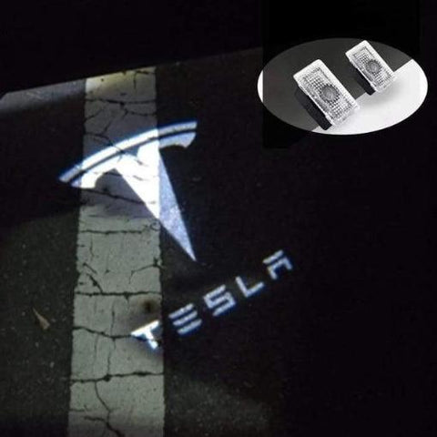 Image of LED Tesla Türlogo-Projektoren | e-car-shop.ch