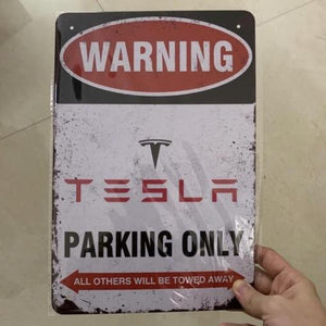Parkschild Tesla Parking only