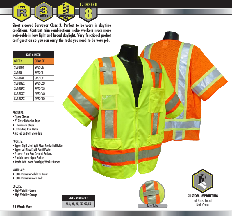 SV63 - Heavy Duty Two-Tone Short Sleeve Surveyor