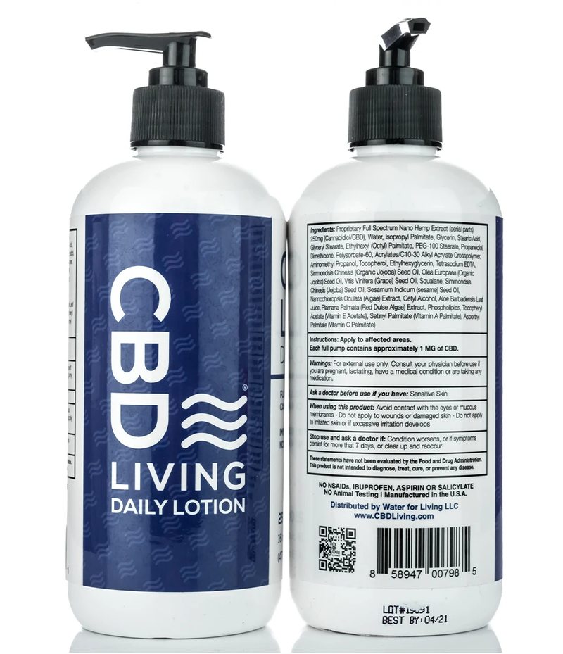 CBD Living Daily Lotion 300MG (Now Available)