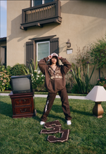 Load image into Gallery viewer, Stuck in the Suburbs Zip Up Hoodie - Brown