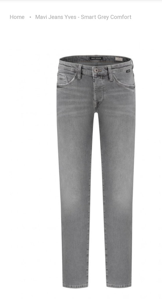 "Jeans Yves ""Smart grey comfort"""