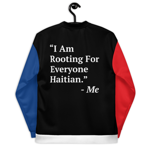I Am Rooting: Haiti Unisex Bomber Jacket