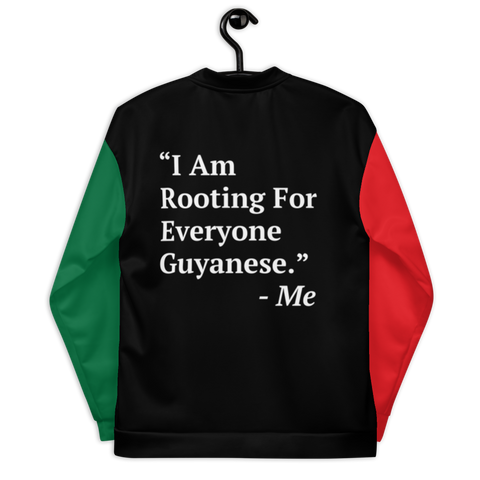 I Am Rooting: Guyana Unisex Bomber Jacket