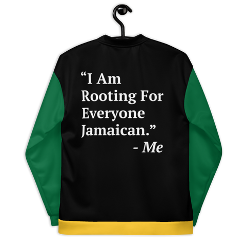I Am Rooting: Jamaica Unisex Bomber Jacket