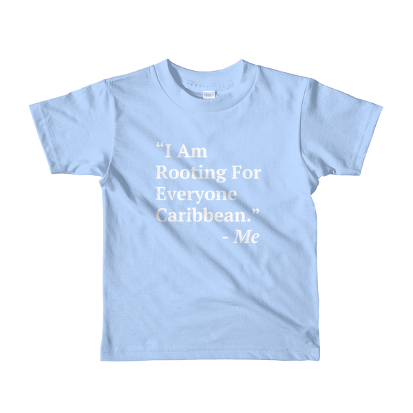 I Am Rooting: Caribbean kids t-shirt