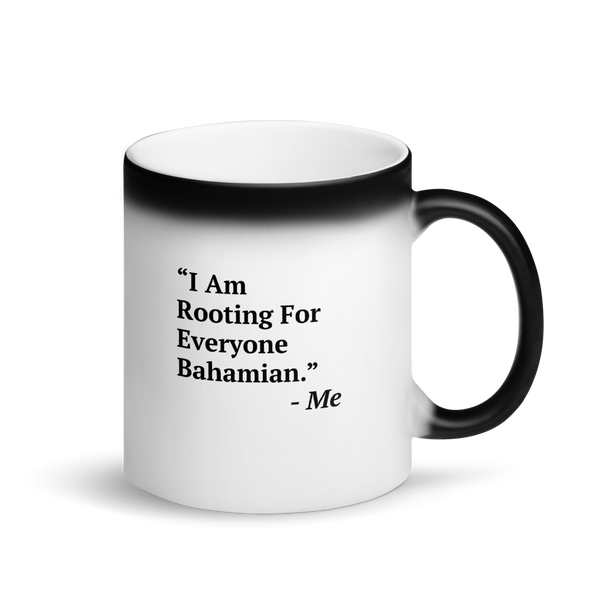 I Am Rooting: Bahamas Matte Black Magic Mug