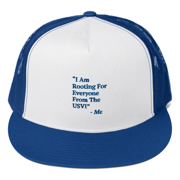I Am Rooting: USVI Trucker Cap