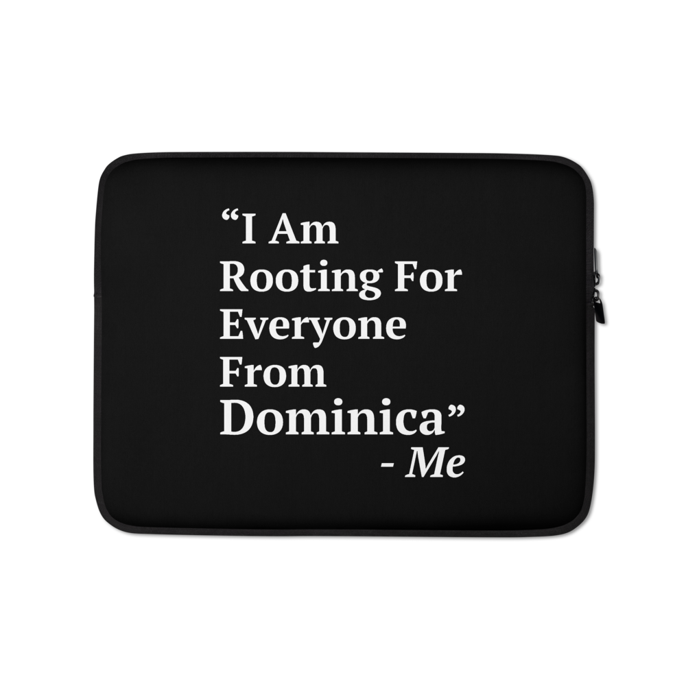 I Am Rooting: Dominica Laptop Sleeve
