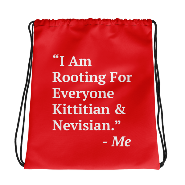 I Am Rooting: St. Kitts & Nevis Drawstring Bag