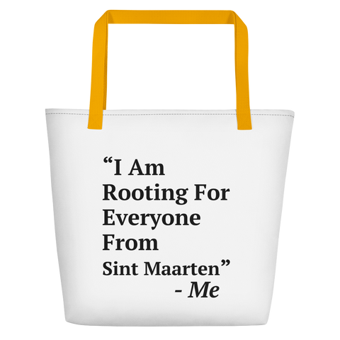 I Am Rooting: Sint Maarten Beach Bag