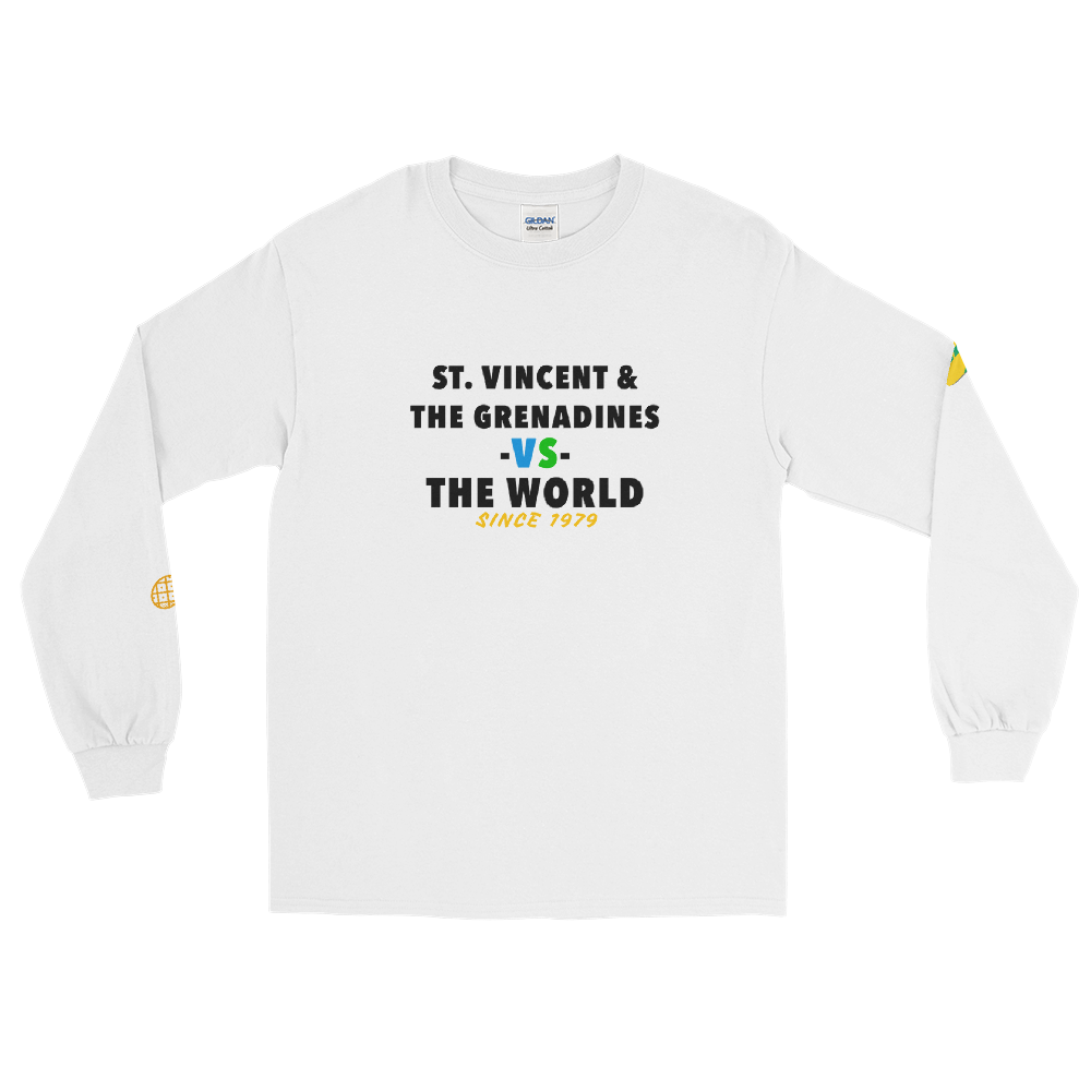 St Vincent & The Grenadines -vs- The World Men's Long Sleeve Shirt