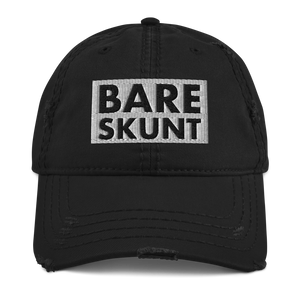Bare Skunt Distressed Dad Hat