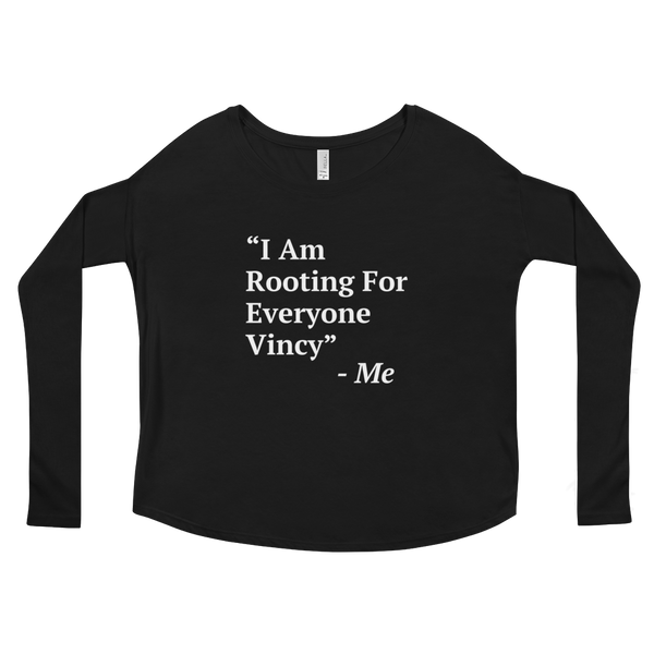 I Am Rooting: St. Vincent Ladies' Long Sleeve Tee