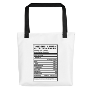 Dancehall Music Nutrition Facts Tote bag