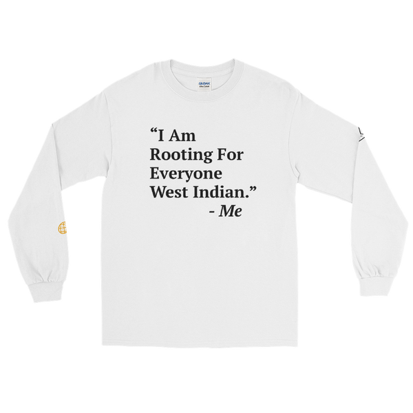 I'm Rooting: West Indian Men's Long Sleeve Shirt