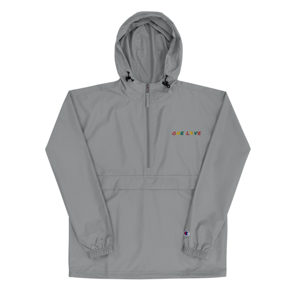 One Love Embroidered Champion Packable Jacket