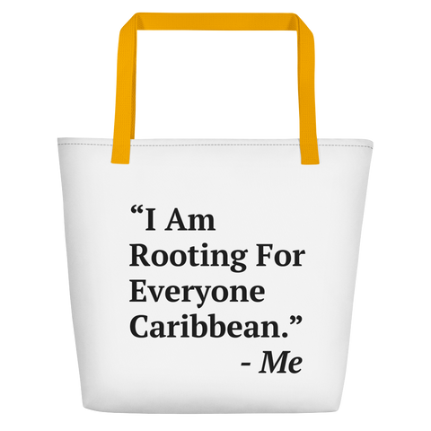 I Am Rooting: Caribbean Beach Bag