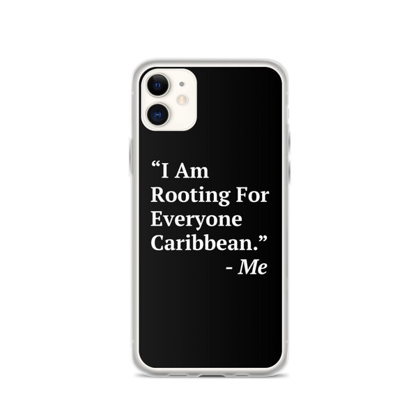 I Am Rooting: Caribbean iPhone Case