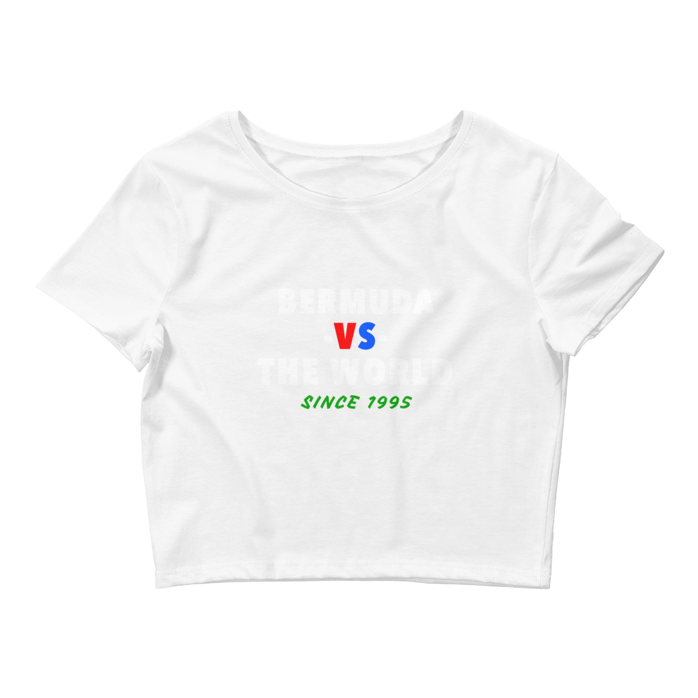 Bermuda -vs- The World Women's Crop Tee