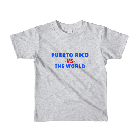 Puerto Rico -vs- The World kids t-shirt