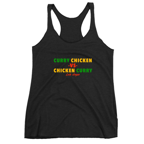 Curry Chicken -vs- Chicken Curry Women's Racerback Tank