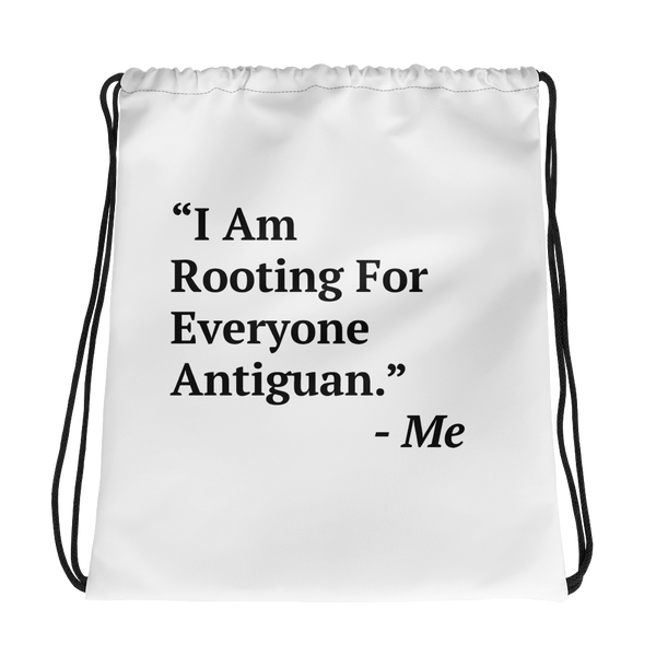 I Am Rooting: Antigua Drawstring Bag