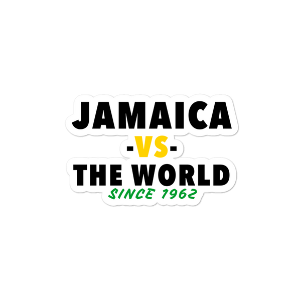 Jamaica -vs- The World Bubble-free stickers