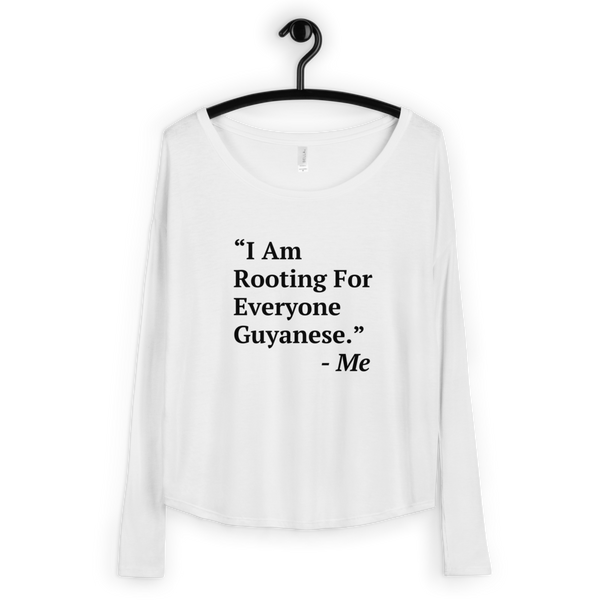 I Am Rooting: Guyana Ladies' Long Sleeve Tee