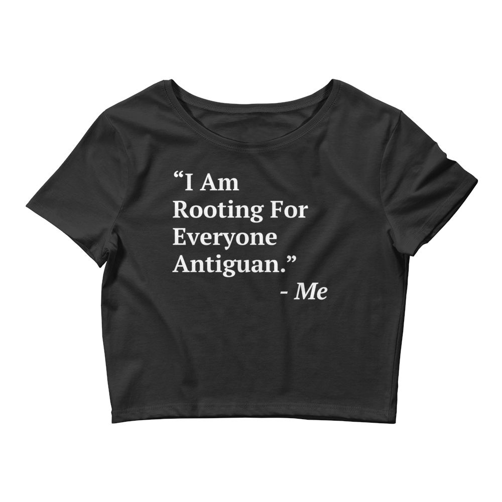 I Am Rooting: Antigua Women Crop Tee