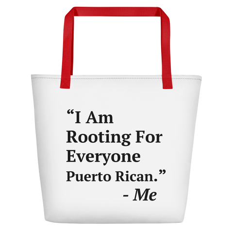 I Am Rooting: Puerto Rico Beach Bag