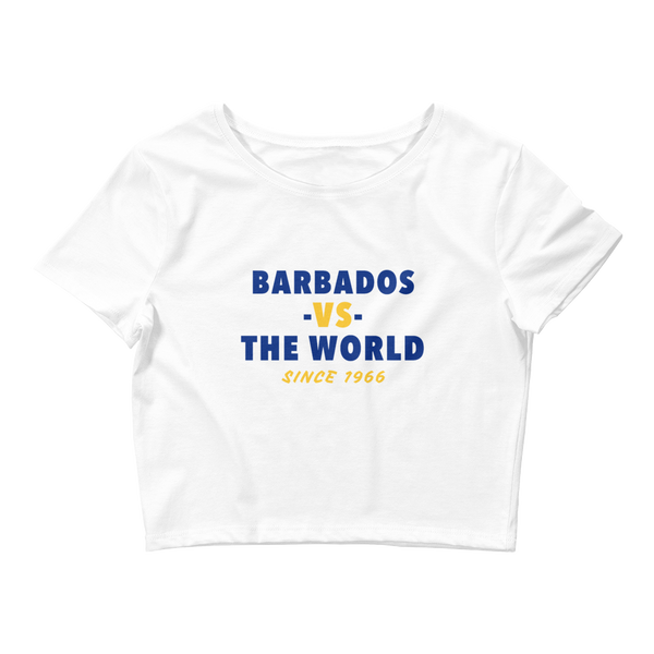 Barbados -vs- The World Women's Crop Tee