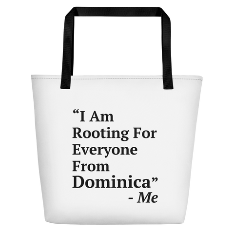 I Am Rooting: Dominica Beach Bag
