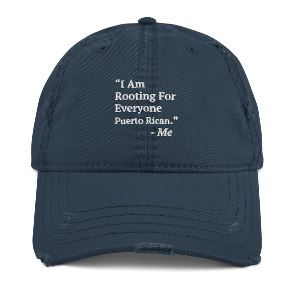 I Am Rooting: Puerto Rico Distressed Dad Hat