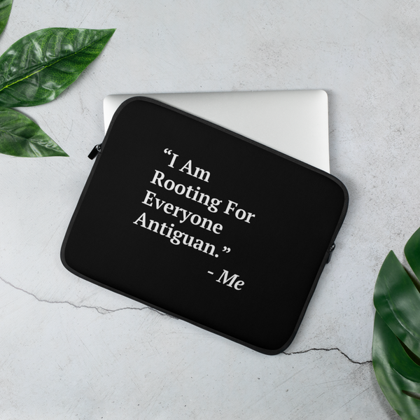 I Am Rooting: Antigua Laptop Sleeve