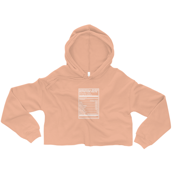 Dancehall Music Nutrition Facts Crop Hoodie