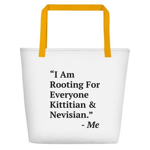 I Am Rooting: St. Kitts & Nevis Beach Bag