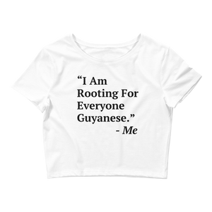 I Am Rooting: Guyana Women's Crop Tee