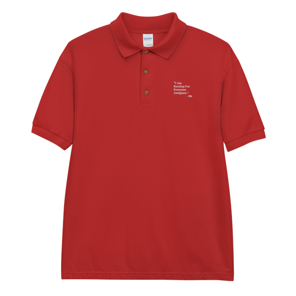 I Am Rooting: Antigua Embroidered Polo Shirt