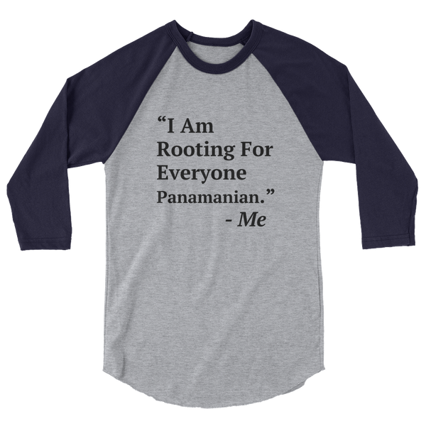 I Am Rooting: Panama raglan shirt