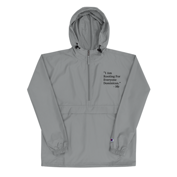 I Am Rooting: Dominican Republic Embroidered Champion Packable Jacket