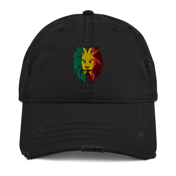 Lion Head Distressed Dad Hat